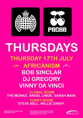 Steve Bell Ministry of Sound Ibiza